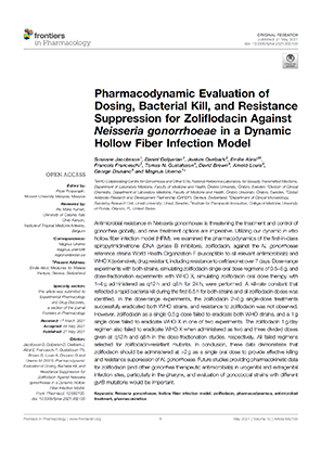 Pharmacodynamic Evaluation of Dosing, Bacterial Kill, and Resistance Suppression for Zoliflodacin Against Neisseria gonorrhoeae in a Dynamic Hollow Fiber Infection Model