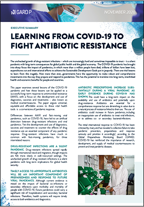 Learning from COVID-19 to Tackle Antibiotic Resistance
